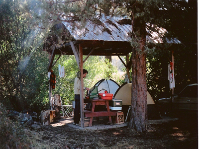 One of many Bidwell camping sites