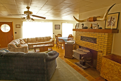 Spacious living great for family or group gatherings.
