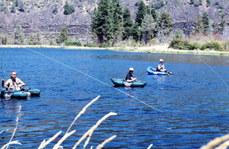 trout or bass fishing on Bidwell Ranch pond