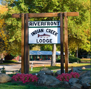 entrance to indian creek lodge