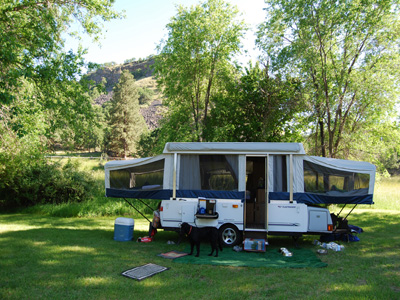 White River tent trailer camping